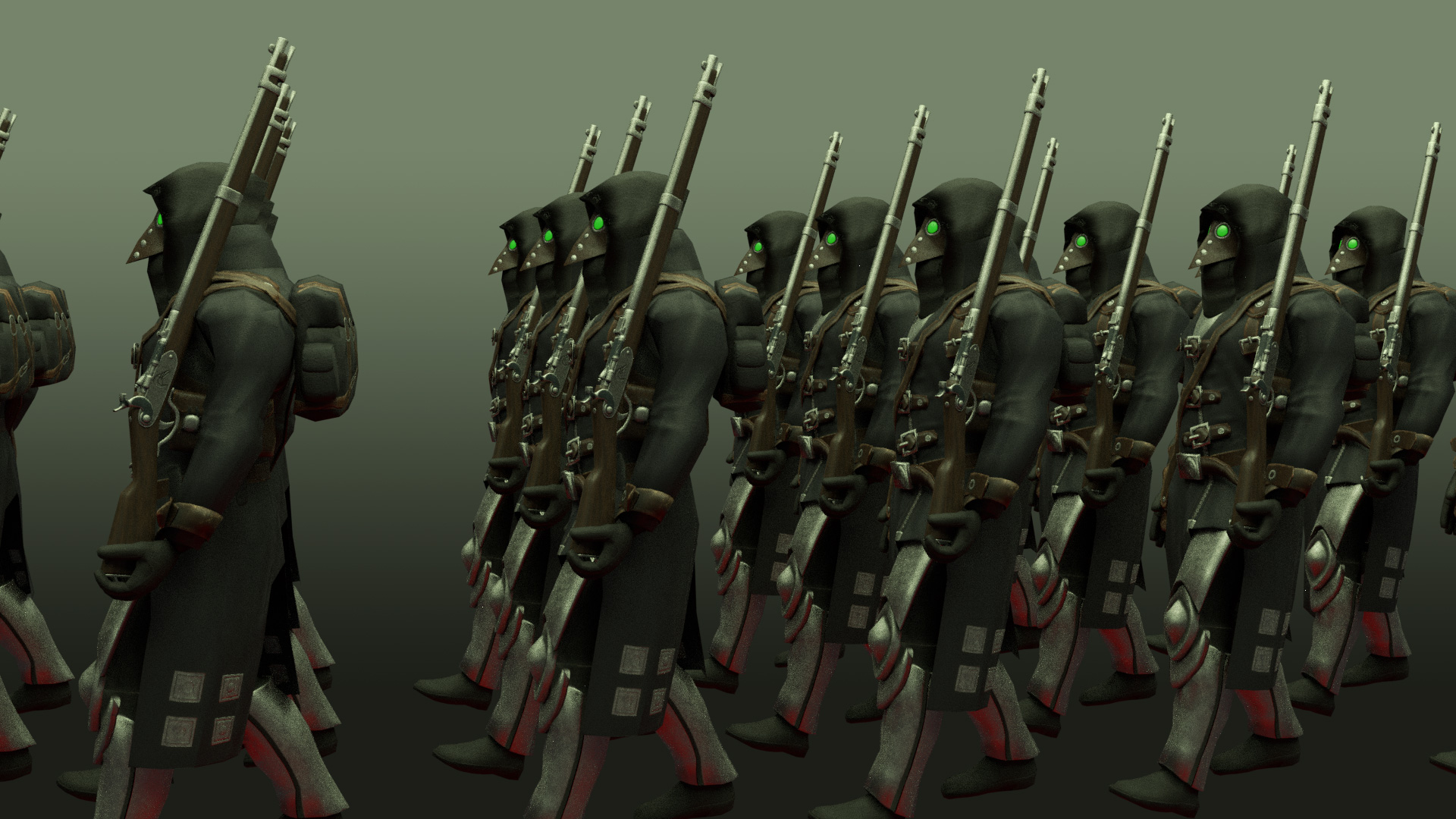 "Completed work on basic AI for the project ""Plague Legion"""